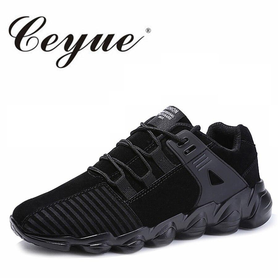 Ceyue Кроссовки Спорт Для мужчин дышащая кожа замша Фитнес Для мужчин Обувь для прогулок новый плюс Размеры 39–46 Кружево до Спортивная обувь д... ...