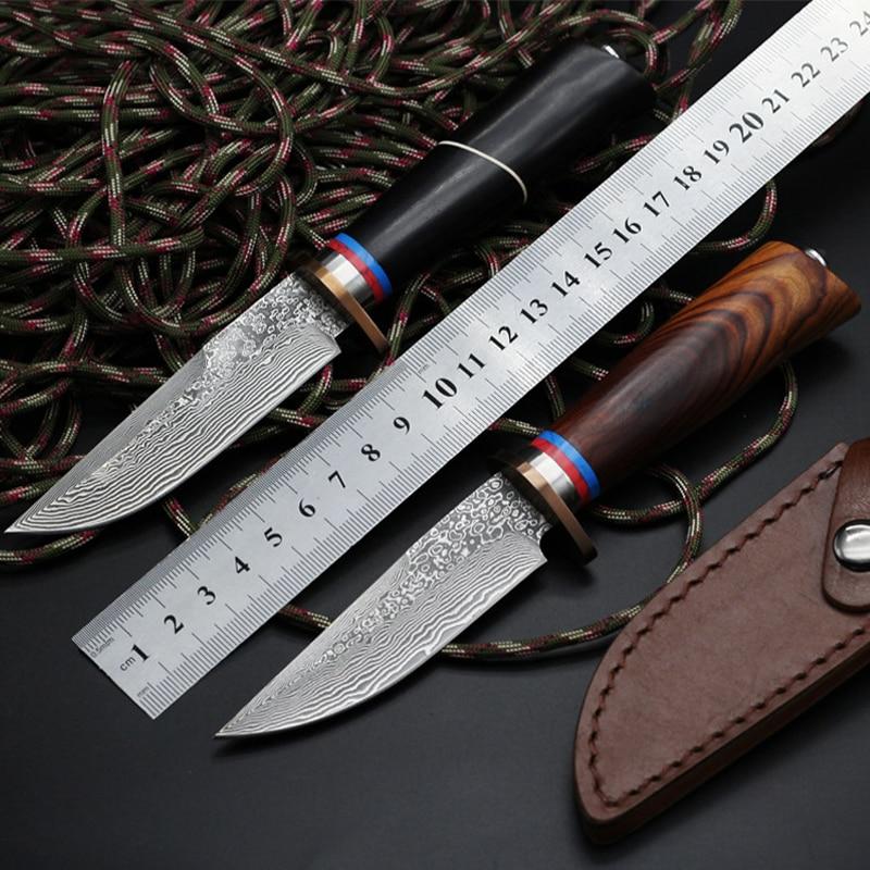 GP Fix Blade Damascus font b Knife b font 60HRC Pocket font b Tactical b font