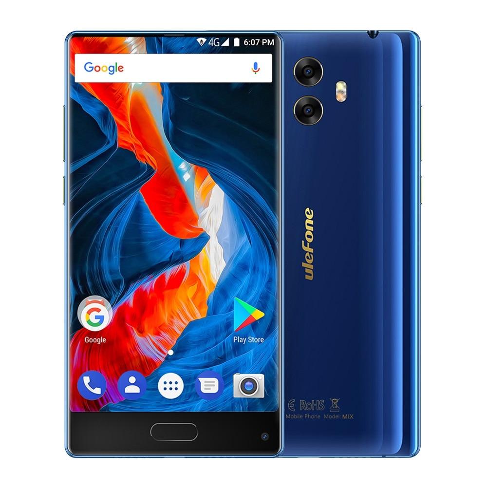 Ulefone Mix Bezeless 4G Smartphone 5.5 inch HD MTK6750T Octa Core Android 7.0 4GB+64GB 3300mAh 13MP Dual Rear Cameras Cellphone