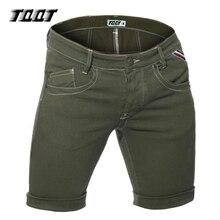 Tqqt männer shorts geraffte denim shorts schlank reißverschluss kurze gerade kurze männlichen solide low wasit knielangen kurze jeans 5P0572