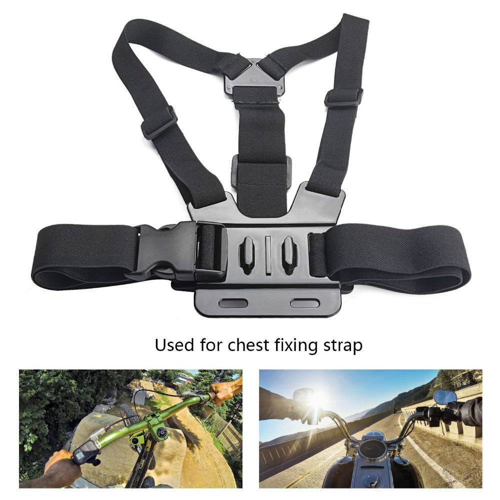 цена на New Gopro Accessories Adjustable Chest Body Harness Belt Strap Mount For Gopro HD Hero 4 3+ 2 1 Xiao Yi action camera GP27