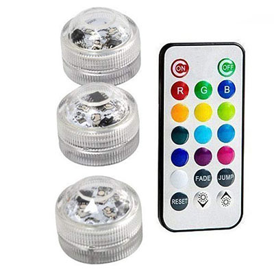 Подводные светодиодные лампы водонепроницаемый SMD3528 RGB подводный ночник Свадебный Чай Ваза-лампа чаша вечерние новогодние гирлянды - Испускаемый цвет: 3 Lamp 1 controller