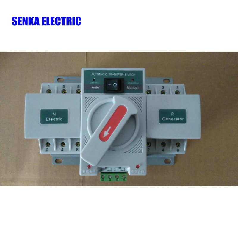 цена на 63A 3P AC 380V Automatic Transfer Switch MCB Type Intelligent Dual Power ATS