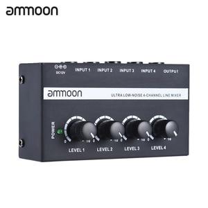 Image 1 - Ammoon MX400 4 채널 믹서 초소형 저잡음 4 채널 라인 모노 오디오 믹서 (전원 어댑터 포함)