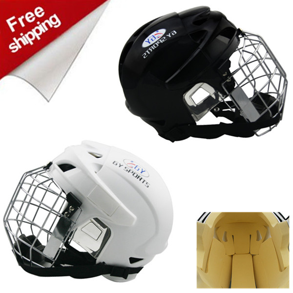 GY SPORTS ice hockey helmet cover with combo cage skates
