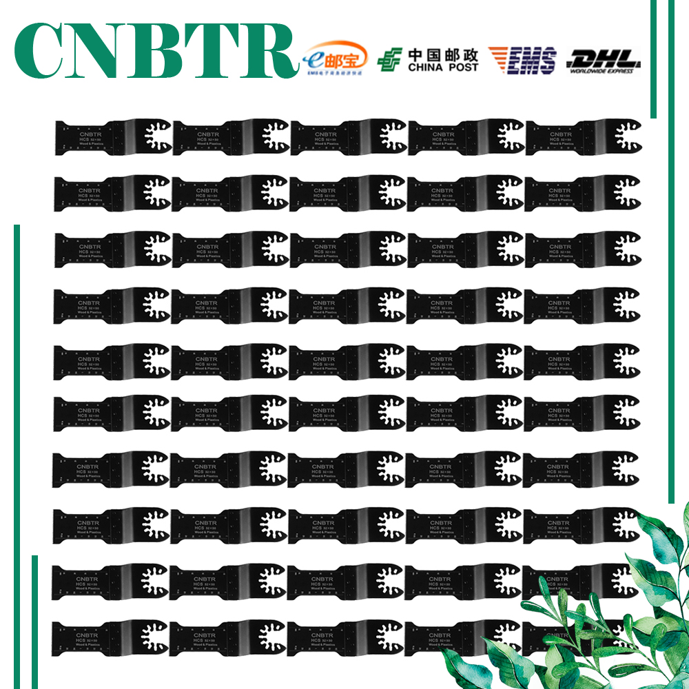 CNBTR 50PCS 32x50mm Carbon Steel Quick Release Saw Blades Oscillating Multitool cnbtr 10 pcs quick release oscillating multitool semicircle