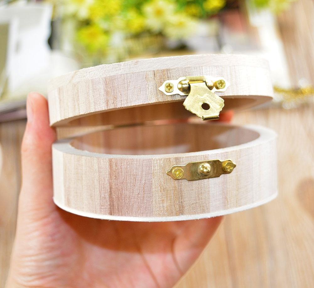 Wooden Crafts Jewelry Box Wood Mud Base Art Decor Children Kid Baby