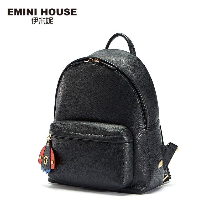 Эмини дом рюкзак женский кожаный Пространство серии Back Pack Rommy рюкзак натуральная кожа рюкзак школьный сумки для девочек-подростков