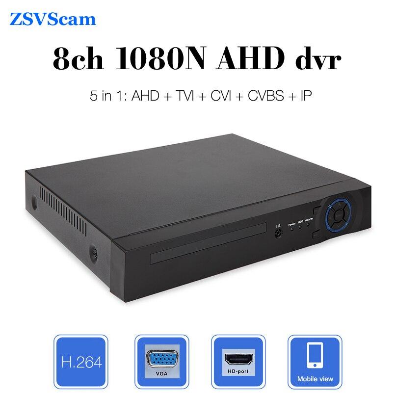 CCTV AHD DVR 8ch 1080N HD Onvif p2p Cloud Motion Sensor Surveillance  Security Network Hybrid Video Recorder система видеонаблюдения ngtechnic 8 8 cctv 8 2 dvr 1008 d626bcm 700 c
