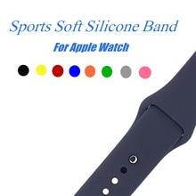 Спорт Силиконовый ремешок для apple watch Series 3/2 заменить браслет ремешок Ремешок Watchstrap для apple watch 42mm 38 мм