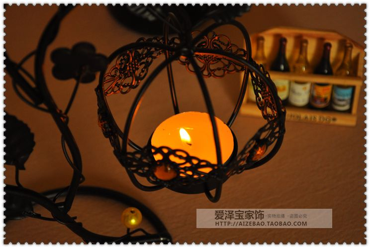 Fashion lantern tieyi mousse vintage hanging mousse at both ends new house decoration candle 6