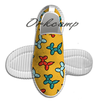 Balloon Animal Dogs Pattern in Yellow Light Weight fashion Sports Running Shoes Walking Shoes Summer Comfortable Yuga shoes