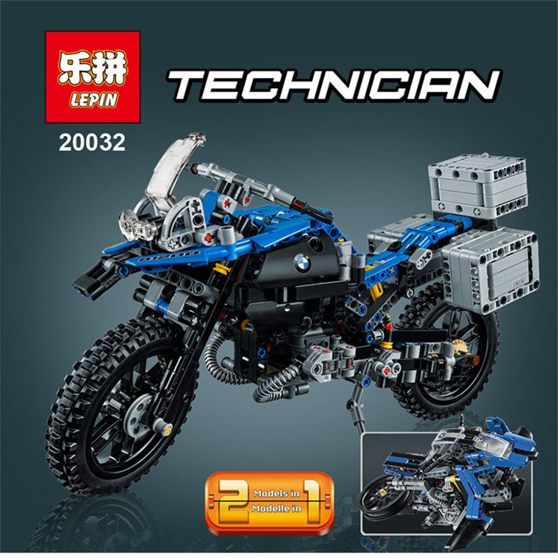 LEPIN 20032 603Pcs Technic Series The BAMW Off-Road Motorcycles R1200 GS Model Building Blocks Bricks for Childern Toys 42063 lego technic конструктор приключения на bmw r 1200 gs 42063