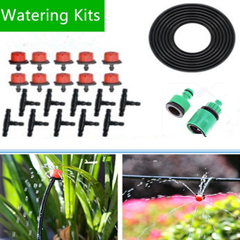 25 m DIY Automatische Micro Drip Irrigatiesysteem Plant Besproeiing Tuinslang Kits Met Verstelbare Druppelaar Smart Controller BH01