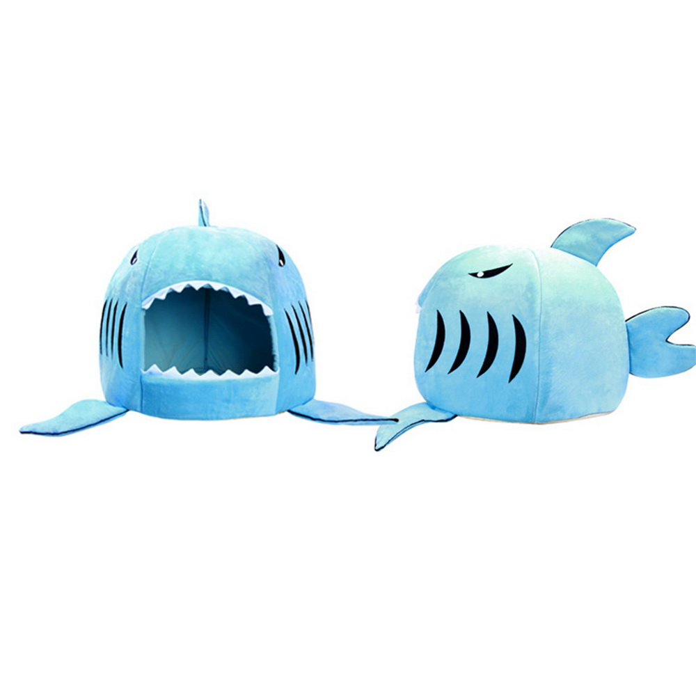 Dozzlor Shark Cat House Bedding Basket Cute Pet Products Sleeping Small Medium Puppy Litter Dog Bed Lounger For Animal 3 Colors #5