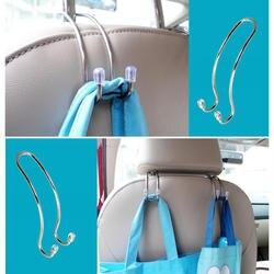 Металлический Мультифункциональный автомобильный крючок для сиденья авто подголовник Вешалка для сумок Держатель Зажимы для автомобиля