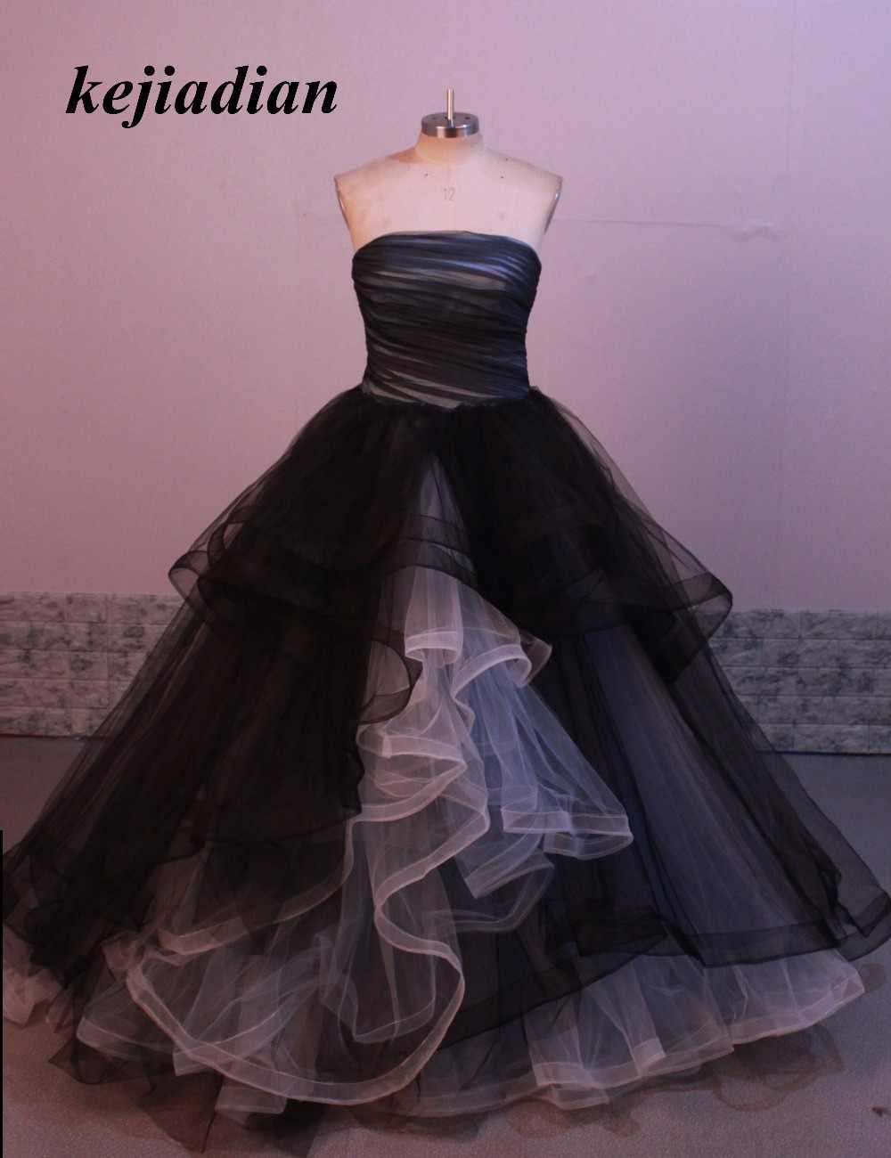Non White Gothic Wedding Dresses