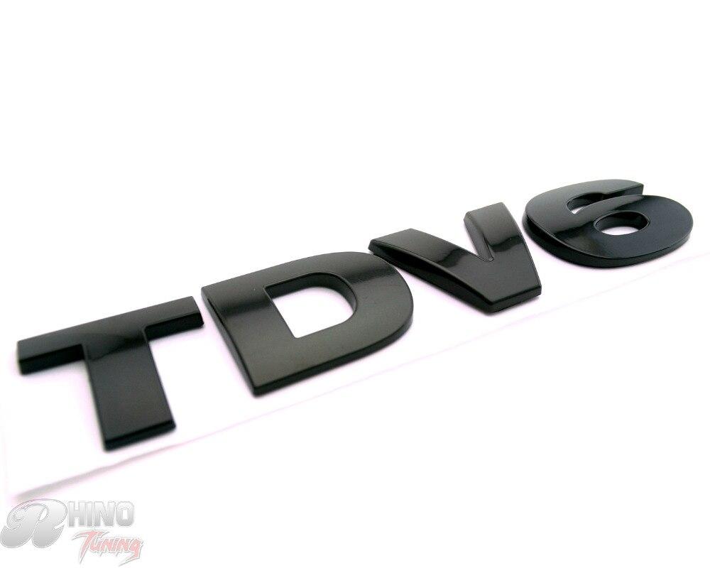 Носорог тюнинга 1шт черный TDV6 автомобиля загрузки багажник эмблема стикер значок Обнаружение 3 ЛР3 2004-09 авто боковины кузова полоса 649bk