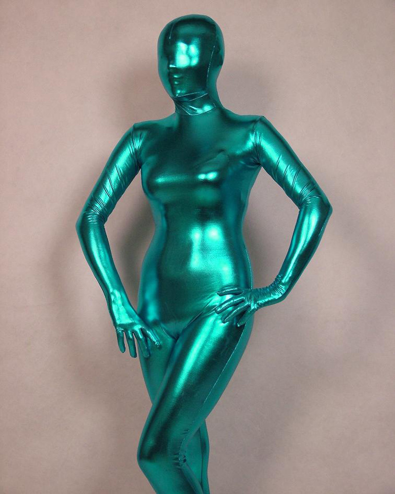 cosplay sea blue full body spandex latex rubber zentai suit catsuit fancy dress custom size in. Black Bedroom Furniture Sets. Home Design Ideas