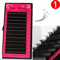 4cases Charming Silk False Eyelashes, false mink lashes Extension C/D Curl 8-15mm All Thickness