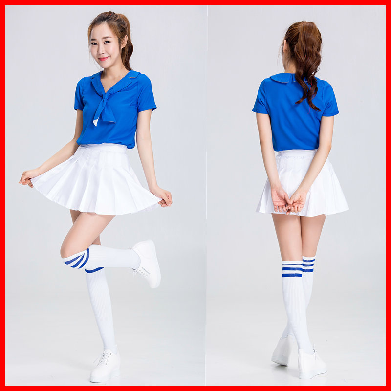 Cheerleader cosplay sweet school girl uniformsailor dress girl Anime Cosplay Skirt Female football baby girl lolita love costume