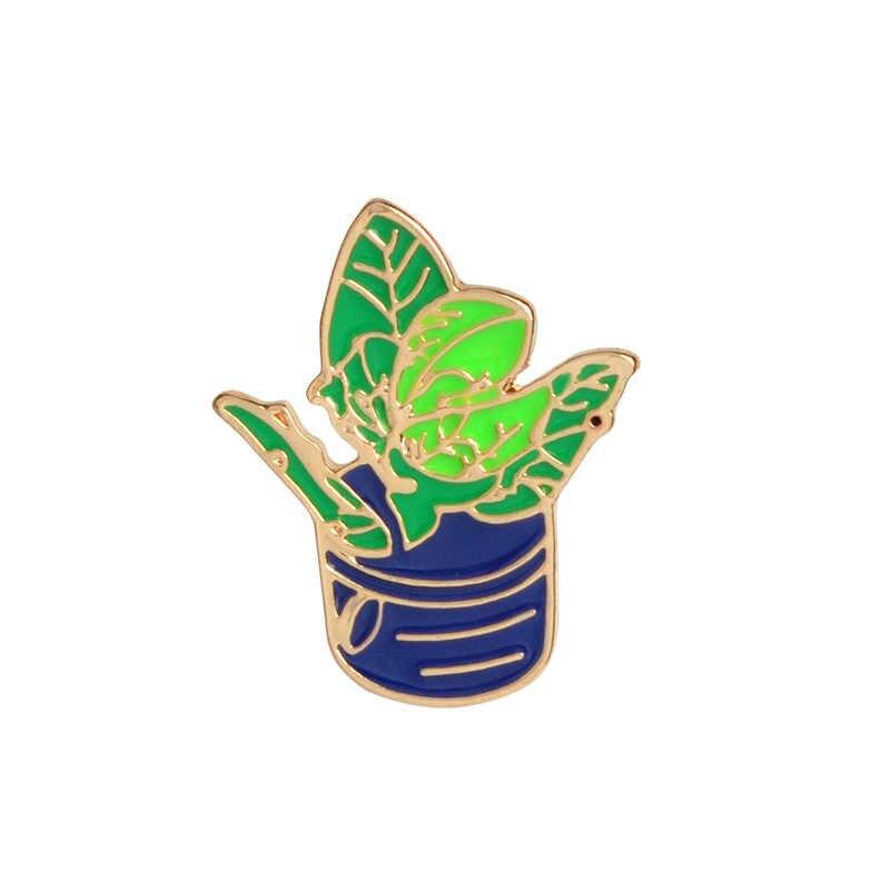 Девочка с зонтиком в горшке растение эмаль нагрудный знак брошь рубашка с пряжкой значок мода мультфильм ювелирные изделия подарок для девочек Дети друзья