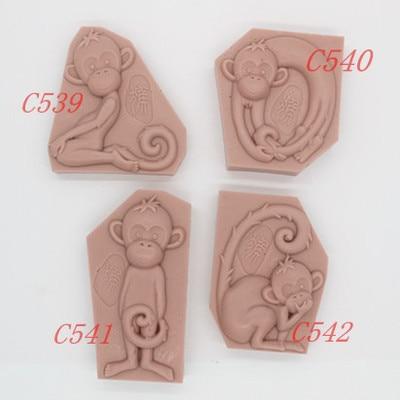 1 шт. силиконовая форма для торта, полимерная глина, мыло ручной работы, новая форма для обезьяны, FM
