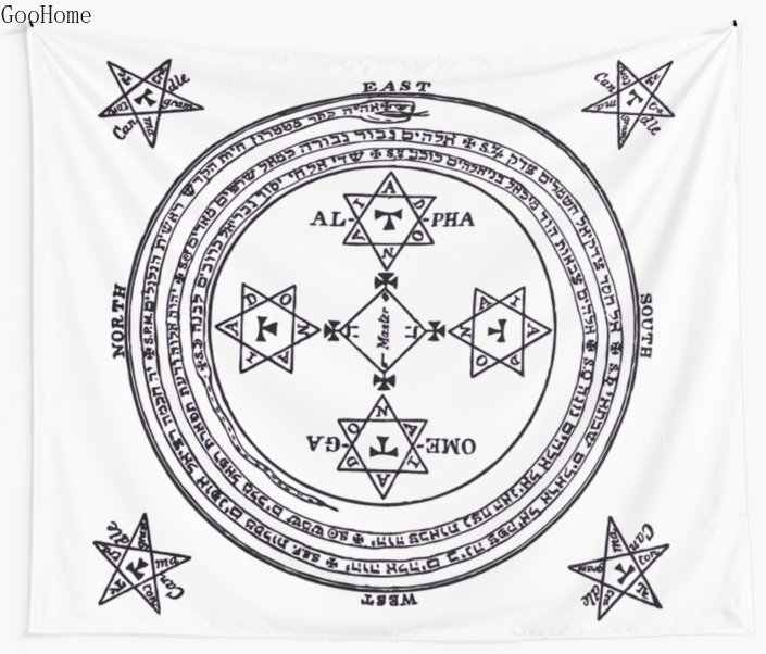 Magical Circle Of King Solomon Big Wall Tapestry Cover Beach Towel Throw Blanket Picnic Yoga Mat Home Decoration Aliexpress