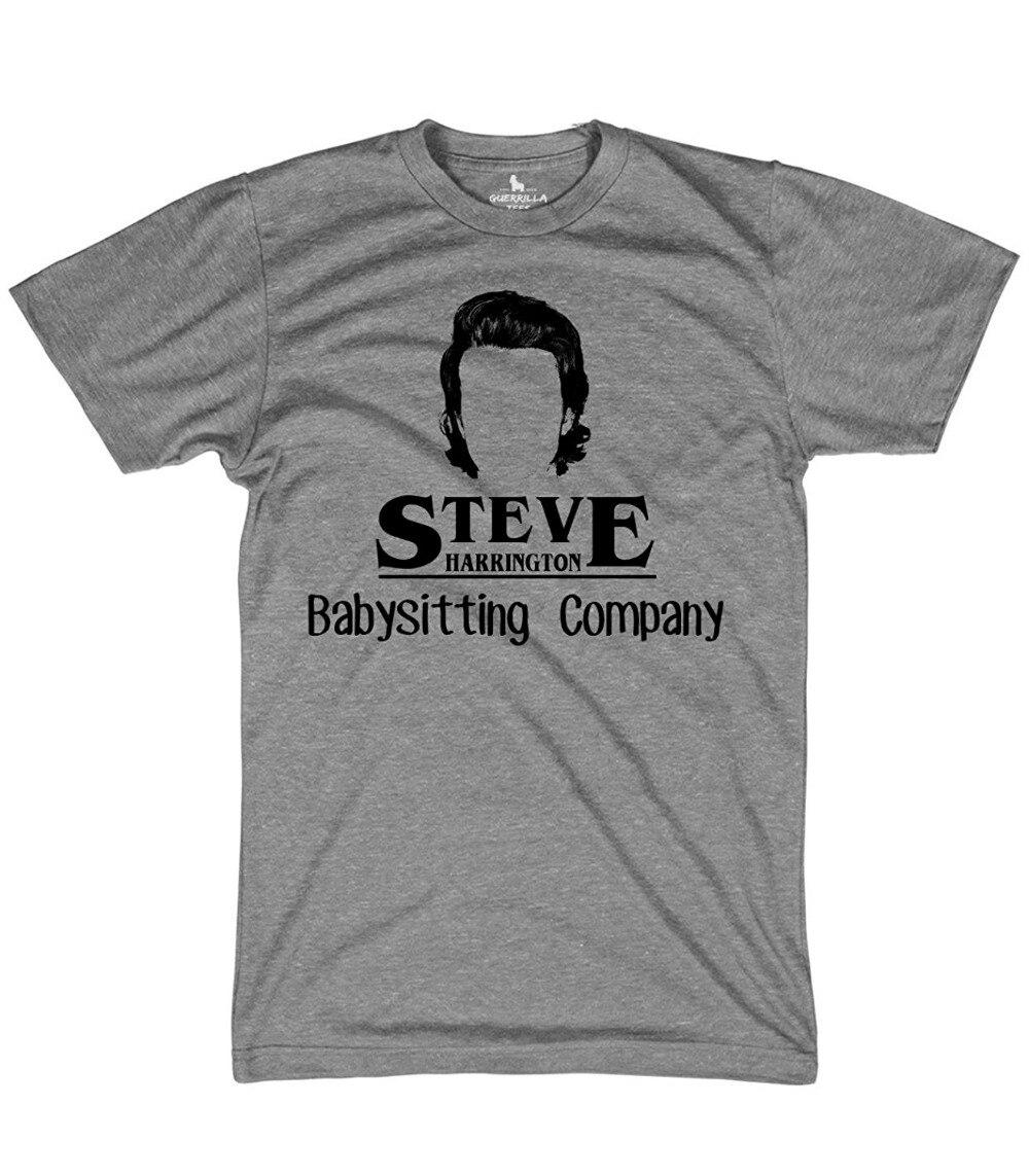 Angemessen T-shirt Ideen Männer Kurzarm Zomer Oansatz Steve Harrington's Baby Sitzen Gesellschaft T Shirts Neueste Mode