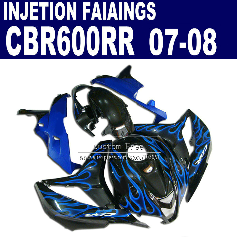 Injection body fairings kits for Honda CBR 600 RR F5 fairing set 07 08 CBR 600RR CBR600RR 2007 2008 blue flame motorcycle parts abs injection fairings kit for honda 600 rr f5 fairing set 07 08 cbr600rr cbr 600rr 2007 2008 castrol motorcycle bodywork part