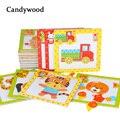 Los niños 3D magnético rompecabezas juguetes de madera juguetes de animales de dibujos animados de tráfico rompecabezas Tangram niños juguete educativo para los niños