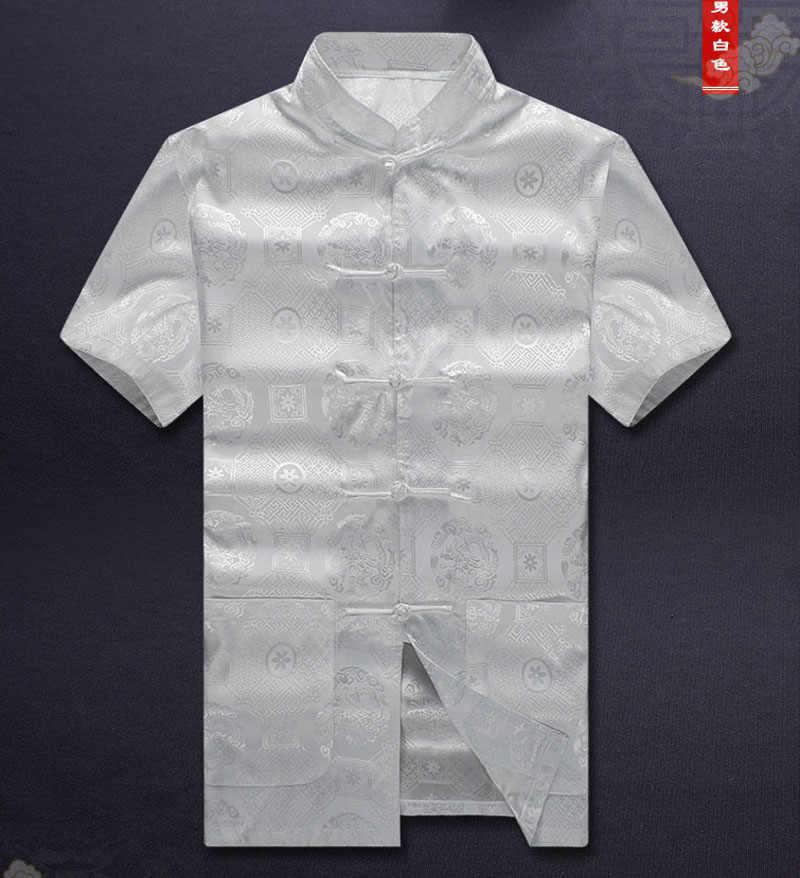 東洋の要素 100% ブランド新着中国の伝統的なシルクカンフーシャツ ML XL XXL 3XL トップス MS062606