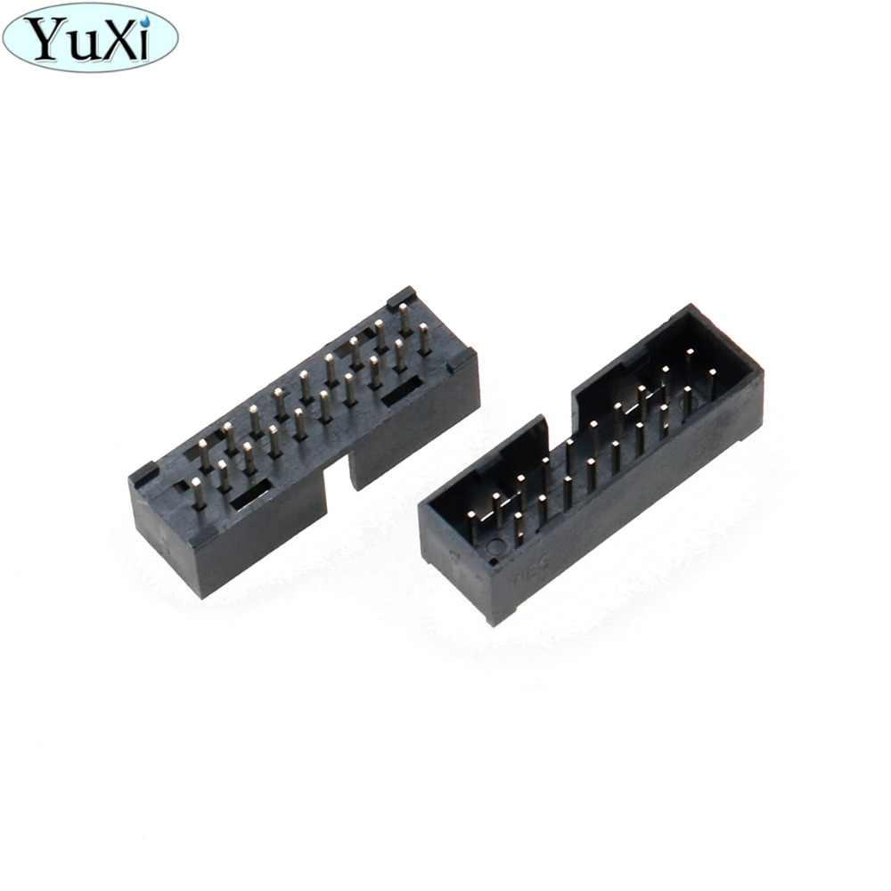 يوشى USB 3.0 19pin 20pin الذكور 180 درجة اللوحة اللوحة مقبس توصيل التوسع موصل