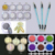 22 Cajas/Set Nail Art Glitter Camaleón Espejo Shimmer Sirena Polvo Láser Holográfico Glitter & 3 unids Pincel De Silicona conjunto