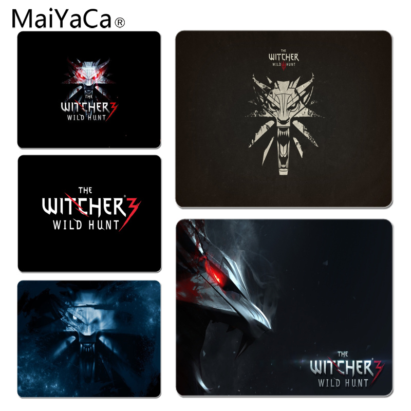 MaiYaCa The Witcher 3 Wild Logo Customized laptop Gaming mouse pad Size for 25X29cm Gaming Mousepads