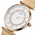 SINOBI Brand Golden Women Watches Montre Femme Fashion Ladies Bracelet Quartz Wristwatches Crystal Diamond Relogio Feminino 2016