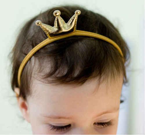 Cappellini Per Feste E Party Della Protezione di compleanno Della Principessa Del Bambino Del Bambino Delle Ragazze del Ragazzo Corona Hairband Elastico Fascia di Nylon Copricapi
