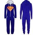 Anime Coaplay Traje de Superman Superhero Batgirl Onesie Adultos Mujeres Hombres Invierno Animal Pijama de Una pieza Más Tamaño Pijamas
