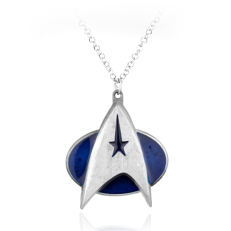 Movie Star Trek Communicator Darkness Starfleet Command Pendant Necklace christmas wedding gift Jewelry Statement Necklace