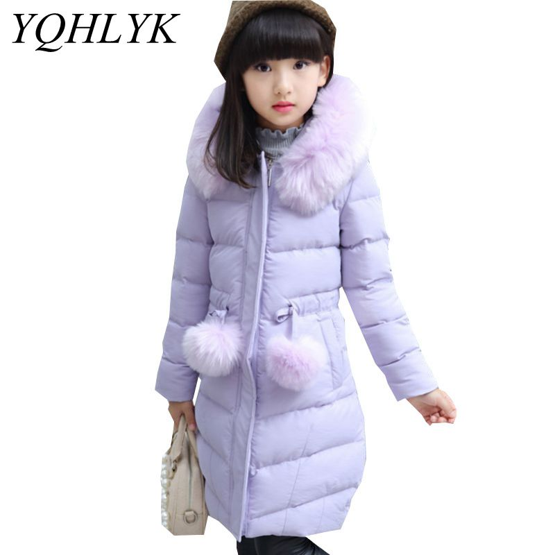 New Fashion Winter Cotton Girls Coat 2018 Korean Children Zipper Hooded Thick Warm Jacket Sweet Casual Kids Clothes 4-14Y W149 2016 autumn and winter fashion explosion models men s warm thick cotton korean slim casual jacket