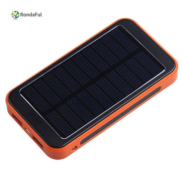 10000 мАч Водонепроницаемый солнечной банк силы пауэр-Метал батерия солнечное зарядное устройство powerbank Для iPhone Xiaomi Huawei Samsung Meizu pad LG