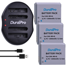 3pc NB-6L NB6L NB 6L NB-6LH 1300mAh Rechargeable Li-Ion Battery + USB Charger For CANON PowerShot SX240 SX260 HS IXY110 SD980