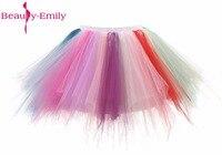 יופי אמילי 2017 אונליין תה אורך טול הכלה תחתוניות תחתוניות תחתונית ארוכה צבעוני למכירה שמלות כלה חמה