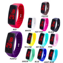 LED Digital Display Bracelet Watch Children's Students Silica Gel Sports Watch kids wrist watch(China)