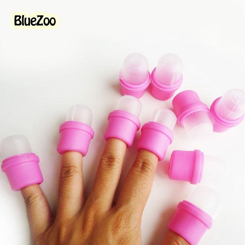 BlueZoo 100pcs/lot Wearable Nail Soak Soakers Cleanser Polish ...