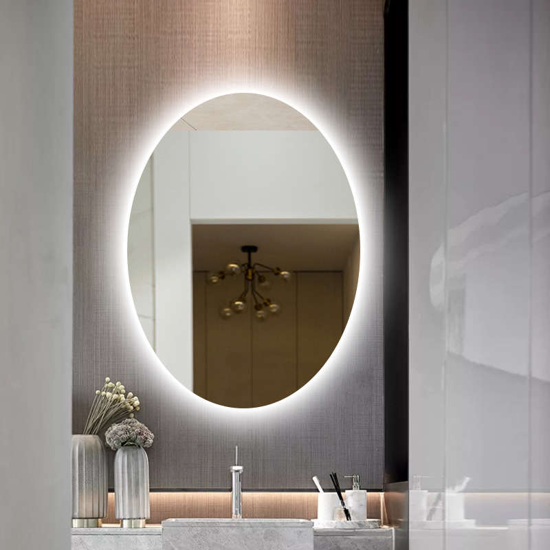 Intelligent Anti-fog Bathroom Vanity Mirror Touch LED Mirror Wall Makeup Screen Show Time Date Temperature And Bluetooth Music 3