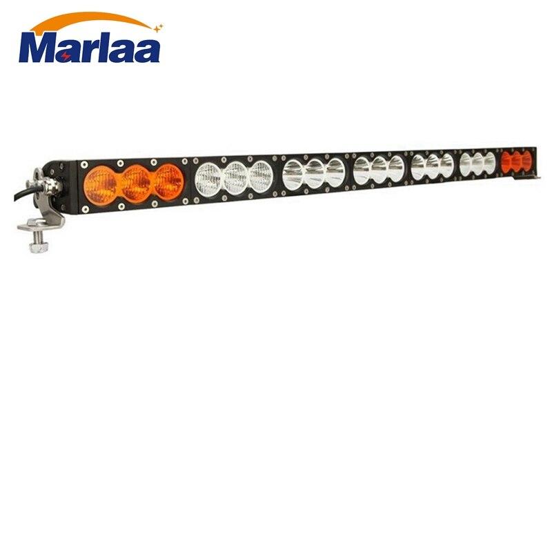 38 Inch 210w Single Row Led Light Bar Amber White Spot Flood Beam Combo Work For Offroad Uaz Suv Trucks 12v 24v In From