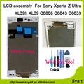 "6.44 ""pantalla lcd de pantalla táctil digitalizador asamblea con marco blanco/bisel del capítulo para sony xperia z ultra xl39h xl39 c6806 c6843 c6833"