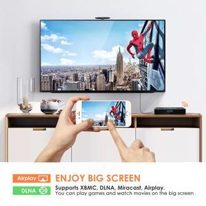 Image 4 - Leelbox Q4 Plus Android 9.0 Smart TV BOX Rockchip RK3328 Quad Core unterstützung 2,4G Drahtlose WIFI media box Set  top Box