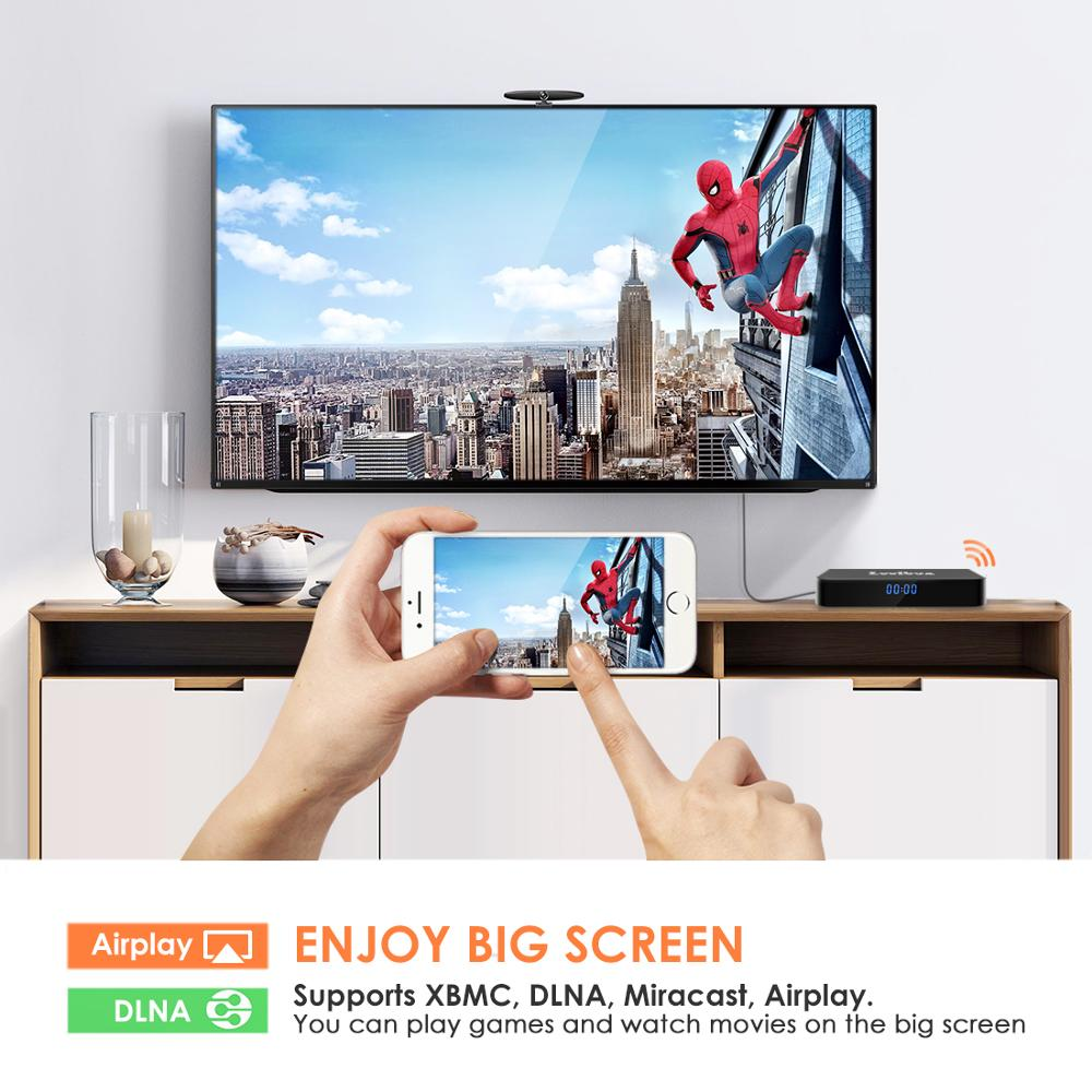 Image 2 - NEW,Q4 Plus Smart TV BOX Android 9.0 4GB+64GB RK3228 Quad Core WIFI 2.4G 4K 3D HK1mini Google Netflix Set Top Box-in Set-top Boxes from Consumer Electronics